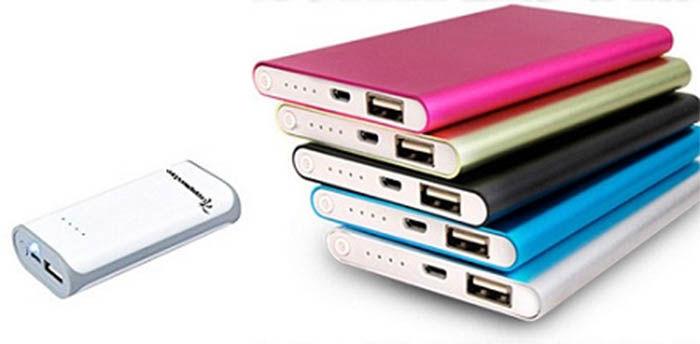 baterias externas de colores