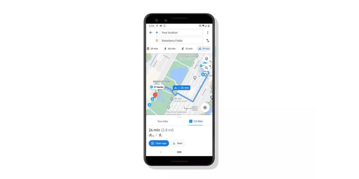 bicicletas alquiladas google maps