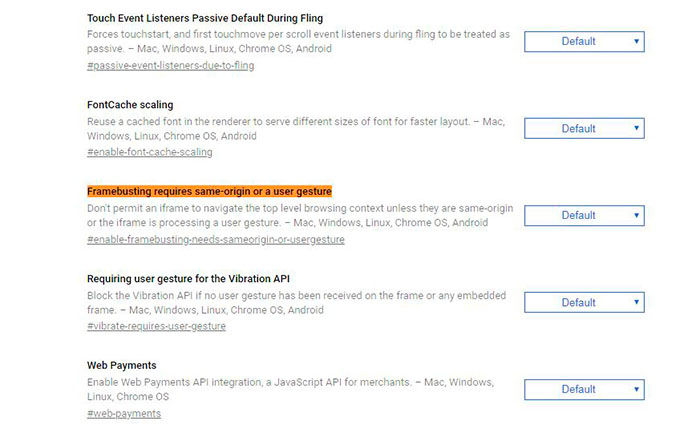 Bloquear webs falsas en Chrome 64