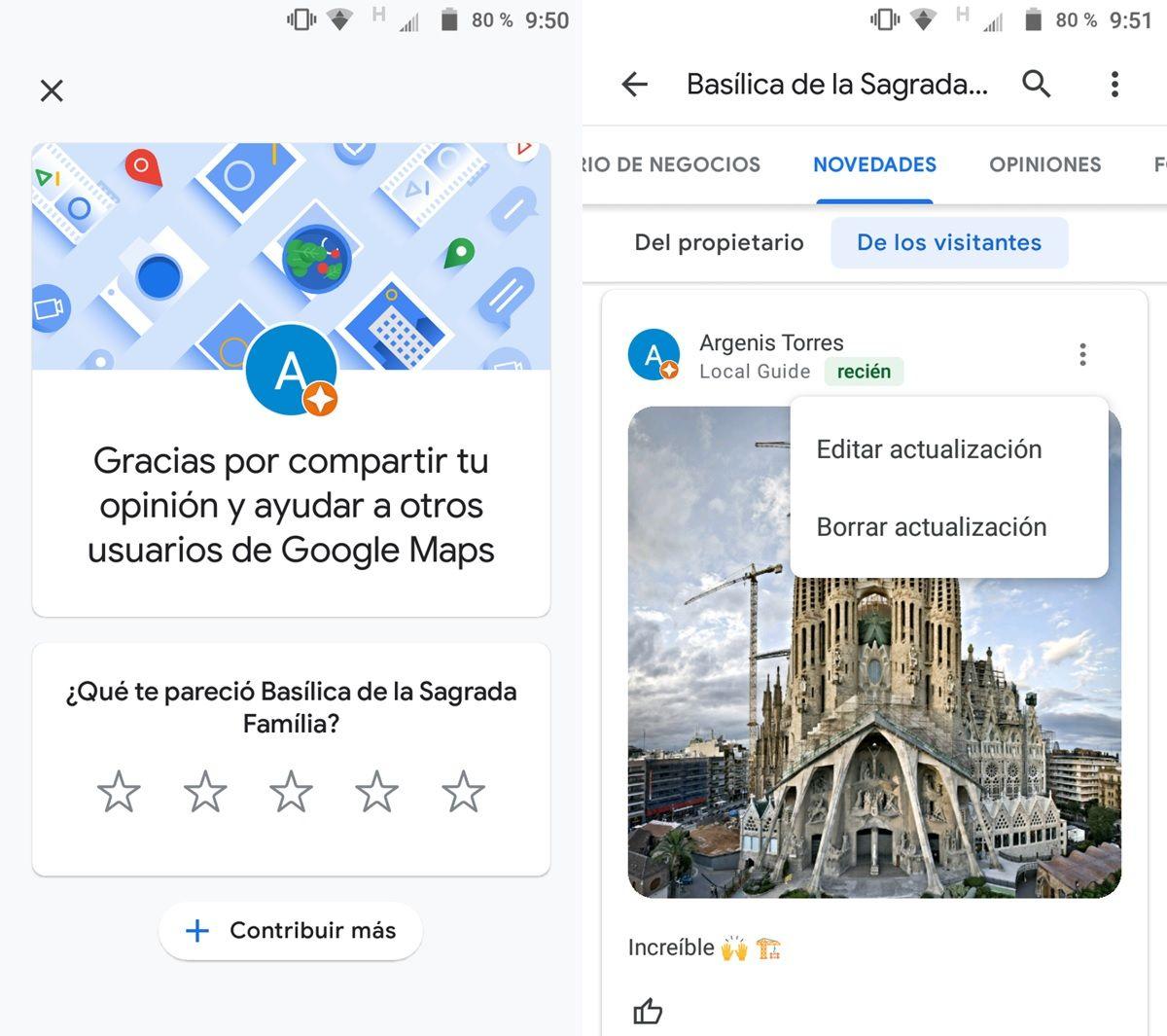 borrar fotos subidas a google maps