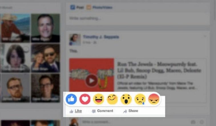 botón me gusta de Facebook nuevos emoticonos