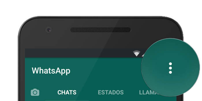 boton de menu en whatsapp