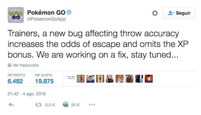 bug capturar pokemon