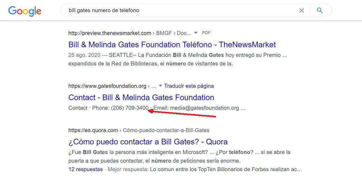 buscar numero de telefono por google