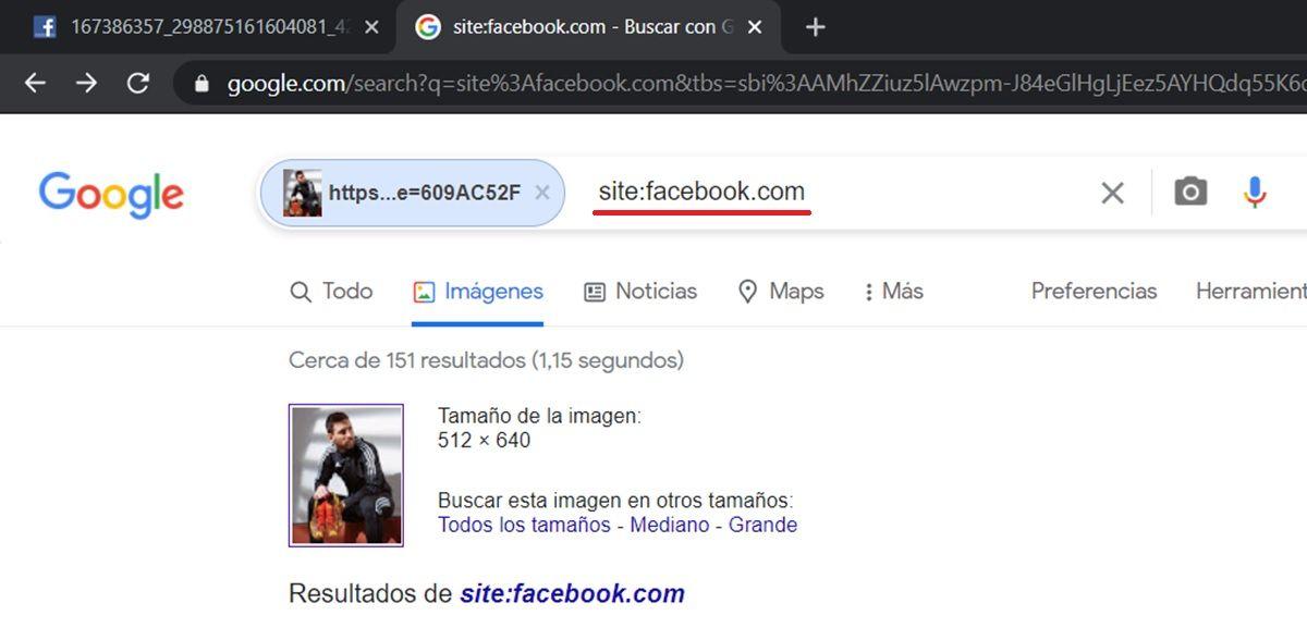 buscar por google imagen de facebook
