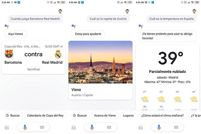 buscar por internet con Google Assistant