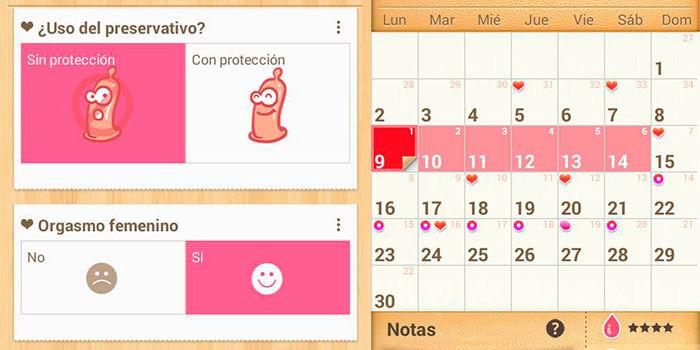 Calendario de actividades sexuales, ciclo menstrual y fertilidad