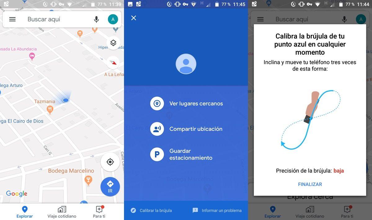 calibrar brujula de android en google maps