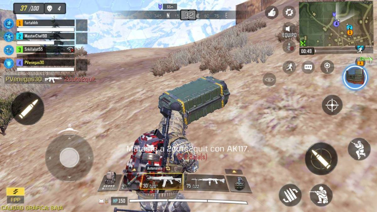 call of duty mobile pasos