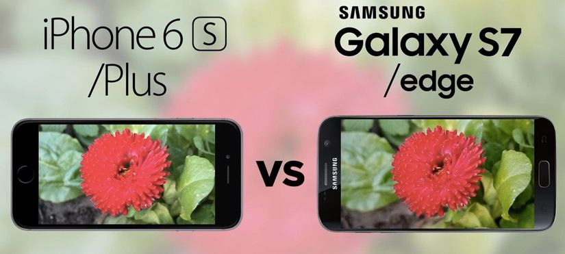 camara galaxy s7 vs iphone 6s