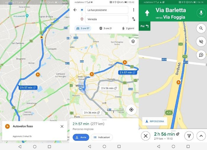 camaras velocidad google maps