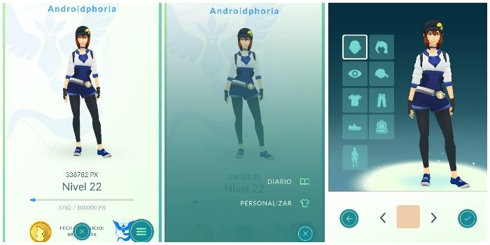 cambiar avatar pokemon go