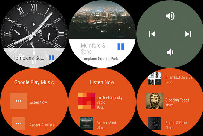 cambiar de cancion en Android Wear2