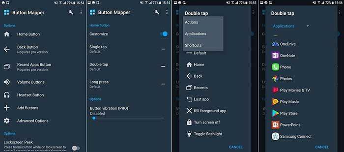 cambiar las funciones de los botones de Android