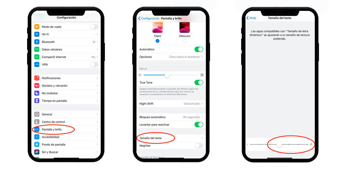 cambiar tamaño letra whatsapp iphone