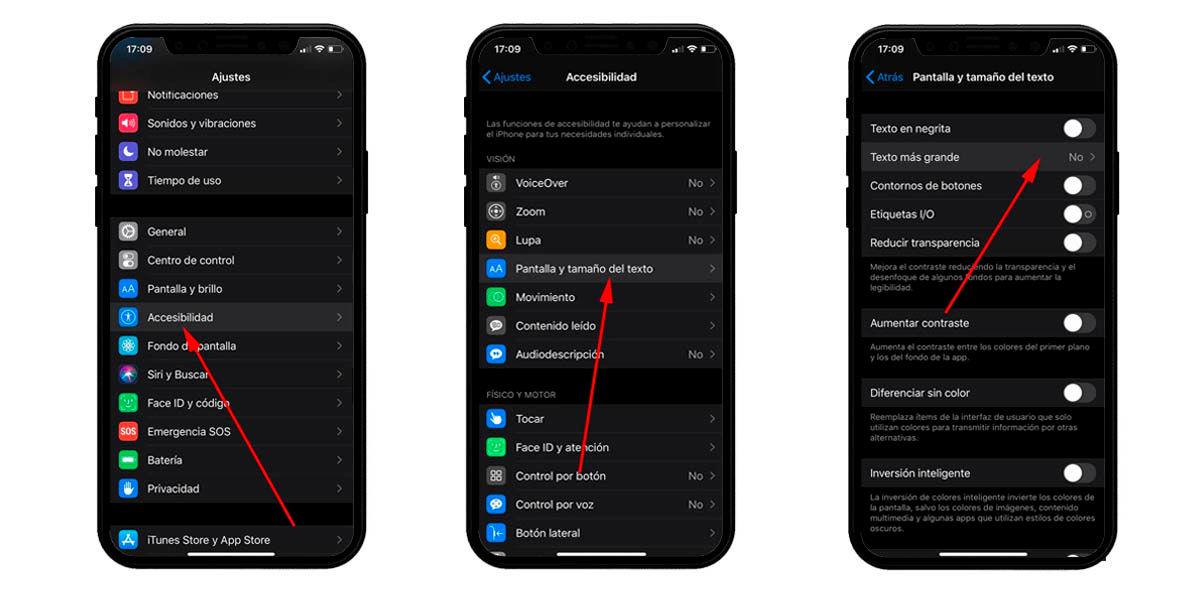 cambiar tamaño texto whatsapp iphone