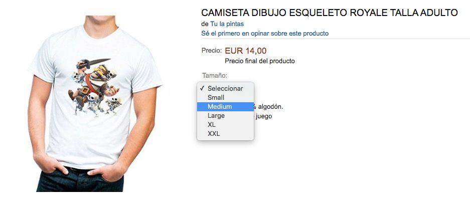 camiseta clash royale amazon