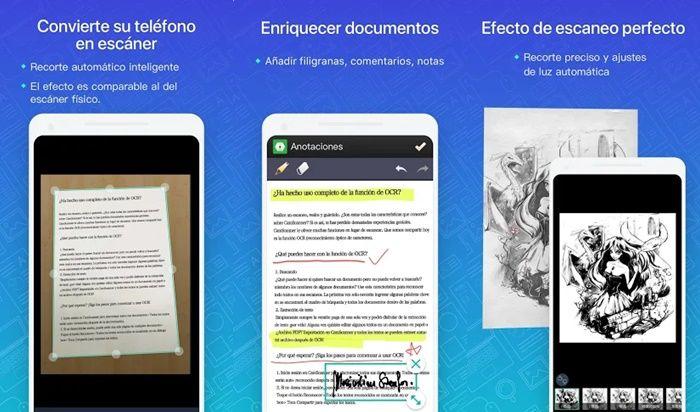 camscanner app para escanear documentos android