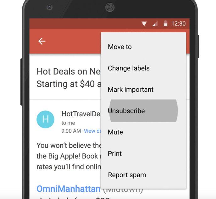 cancelar suscripciones en gmail