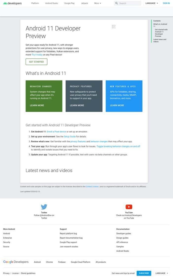 captura pantalla android 11 preview