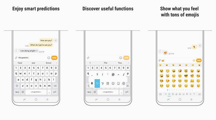 capturas de Samsung Keyboard