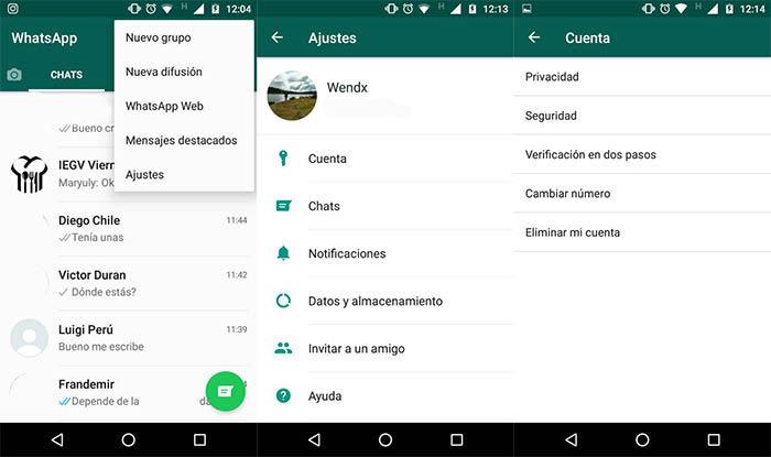 capturas para evitar que un contacto vea los estados de WhatsApp