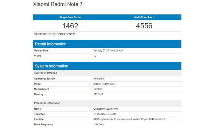 características Xiaomi Redmi Note 7