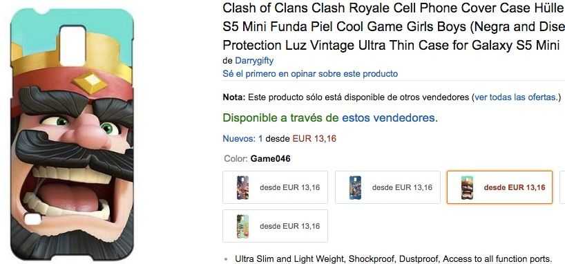 carcasa clash royale amazon