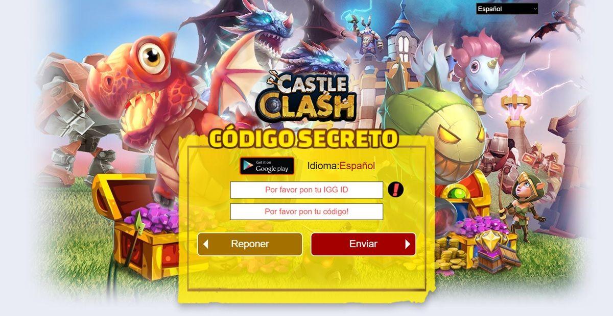 castle clash como canjear codigos secretos