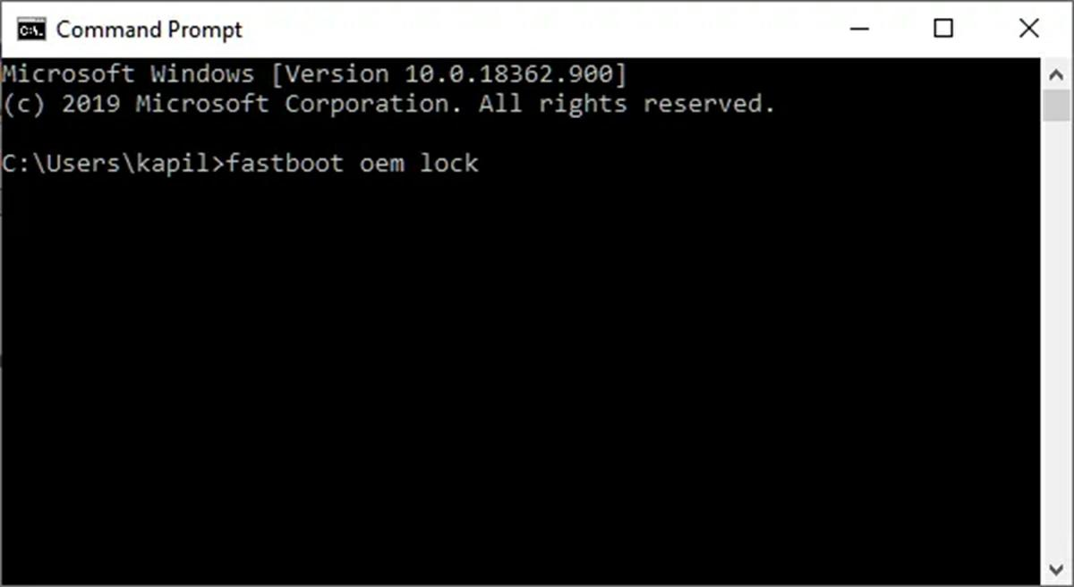 cerrar bootloader con comandos en android fastboot