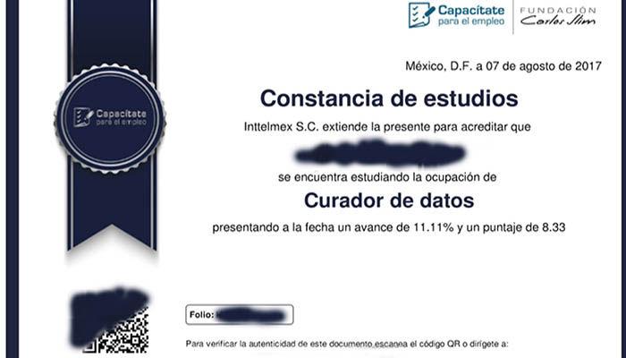 certificado gratis
