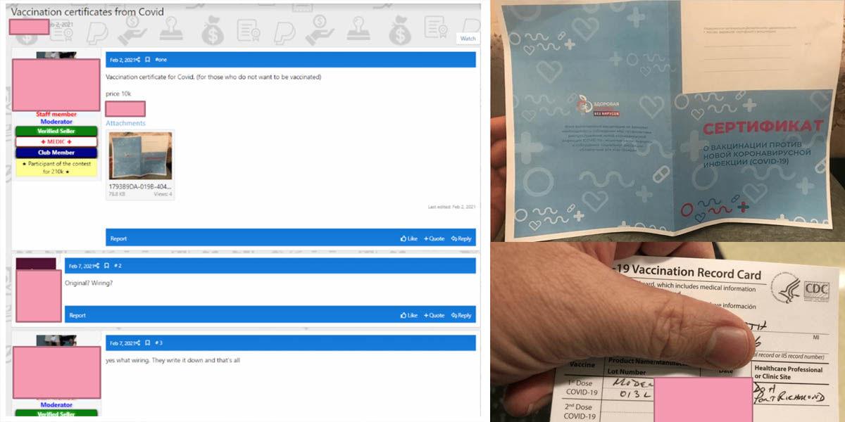 certificados covid piratas deep web