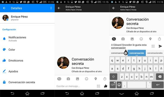 chat cifrado messenger