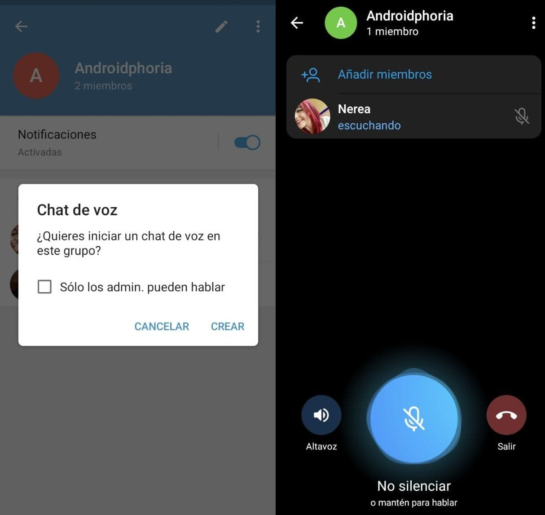 chat voz telegram