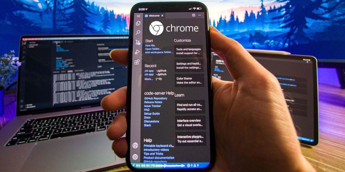 chrome ver codigo fuente de paginas web android telefono