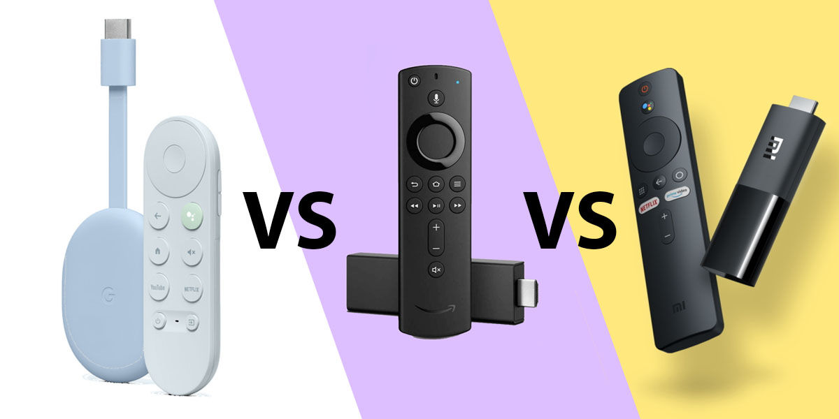 chromecast google tv vs amazon fire tv stick 4k vs xiaomi mi tv stick comparativa