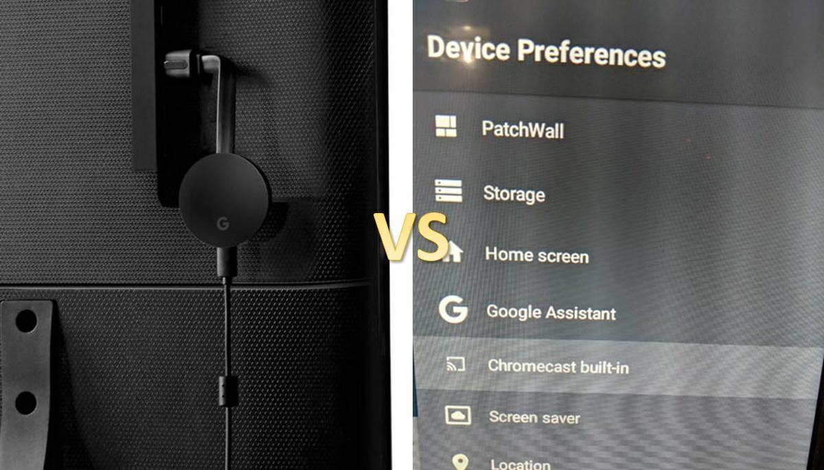 chromecast normal vs chromecast incorporado