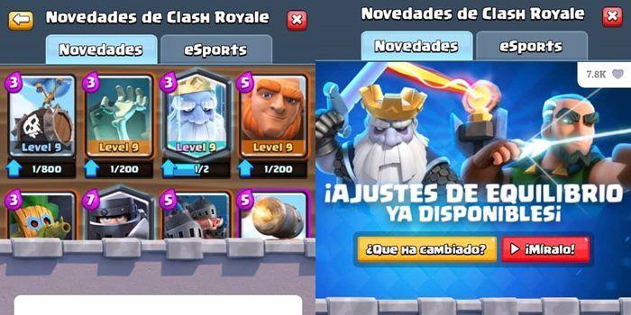 clash royale ajustes