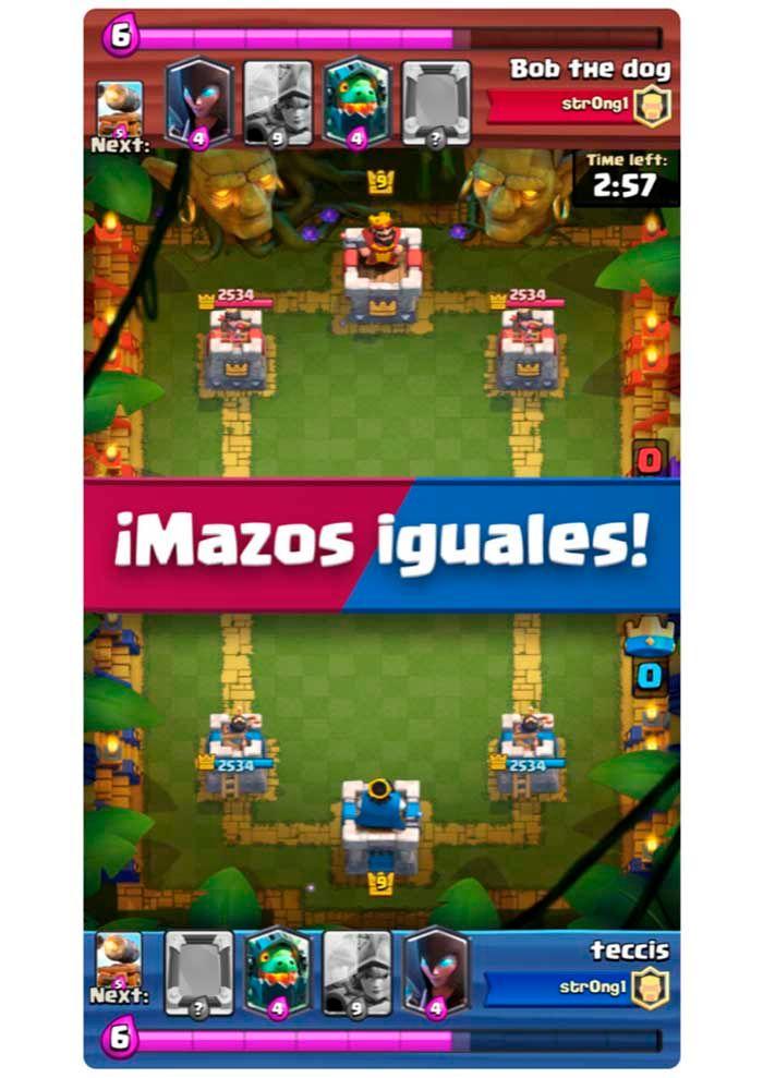 Clash Royale Batalla Duplicada ejemplo