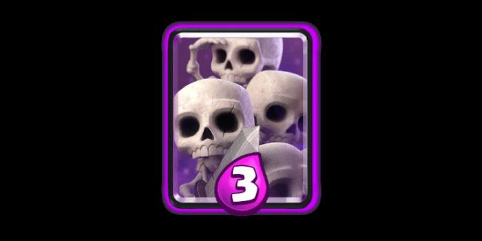 clash royale ejercito de esqueletos