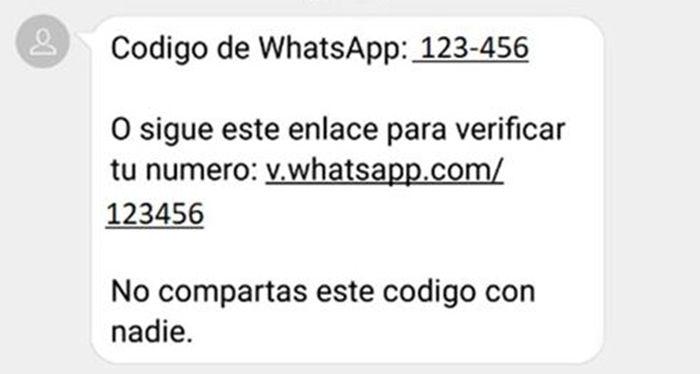 codigo verificacion whatsapp