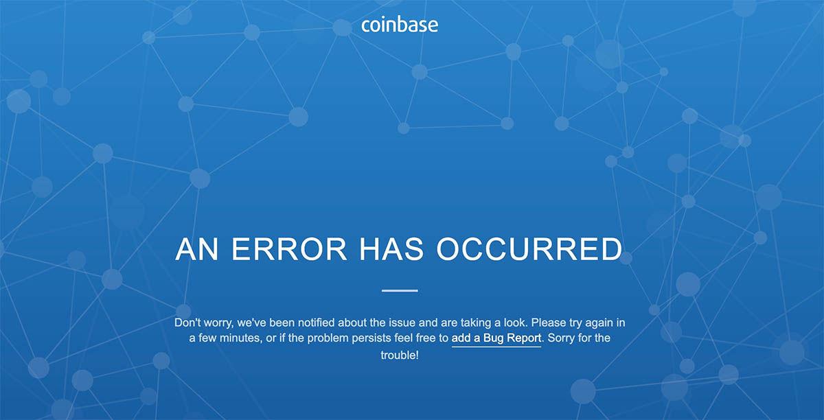 coinbase caído bitcoin bajista