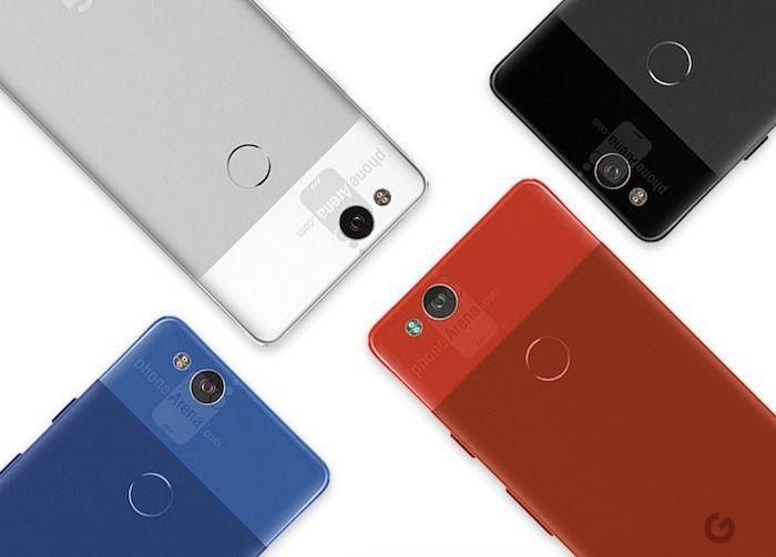 4 colores del Google Pixel 2
