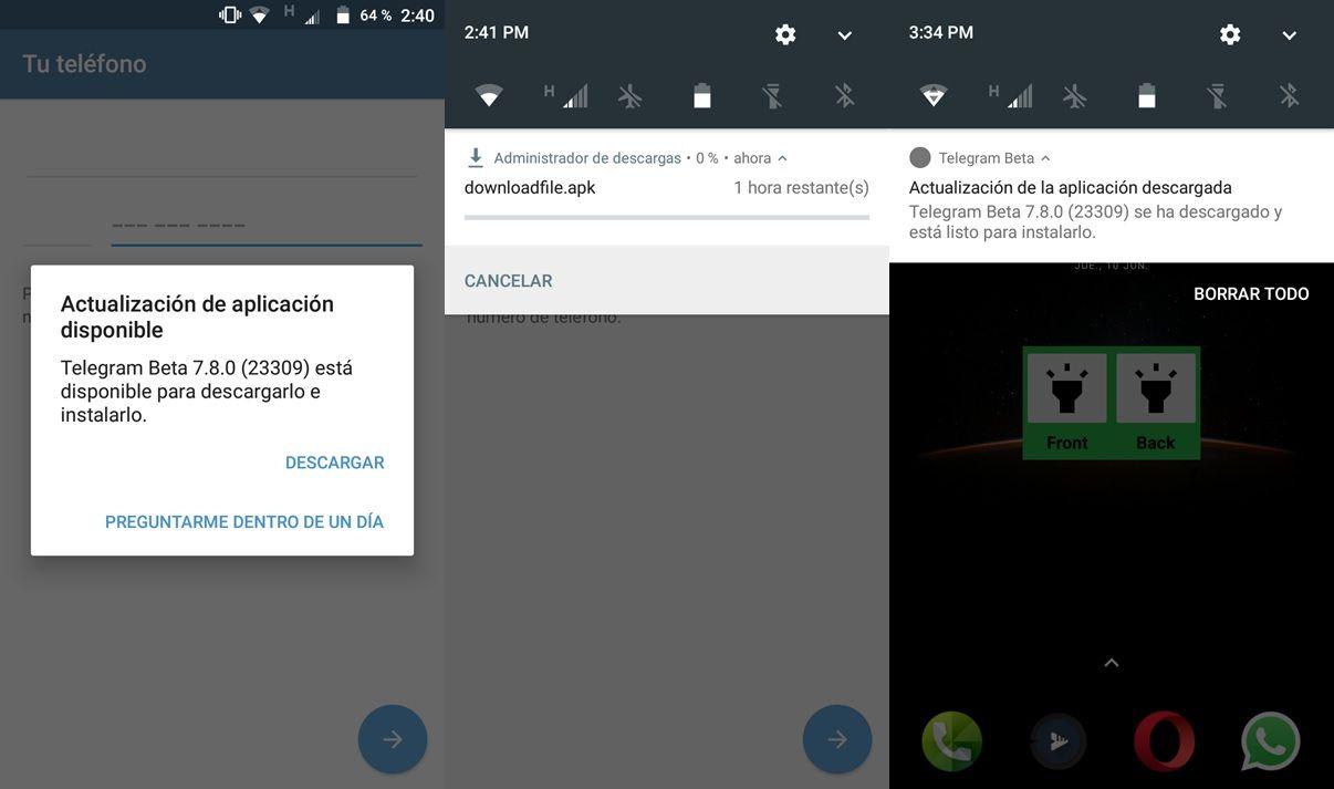 como actualizar de forma automatica telegram apk