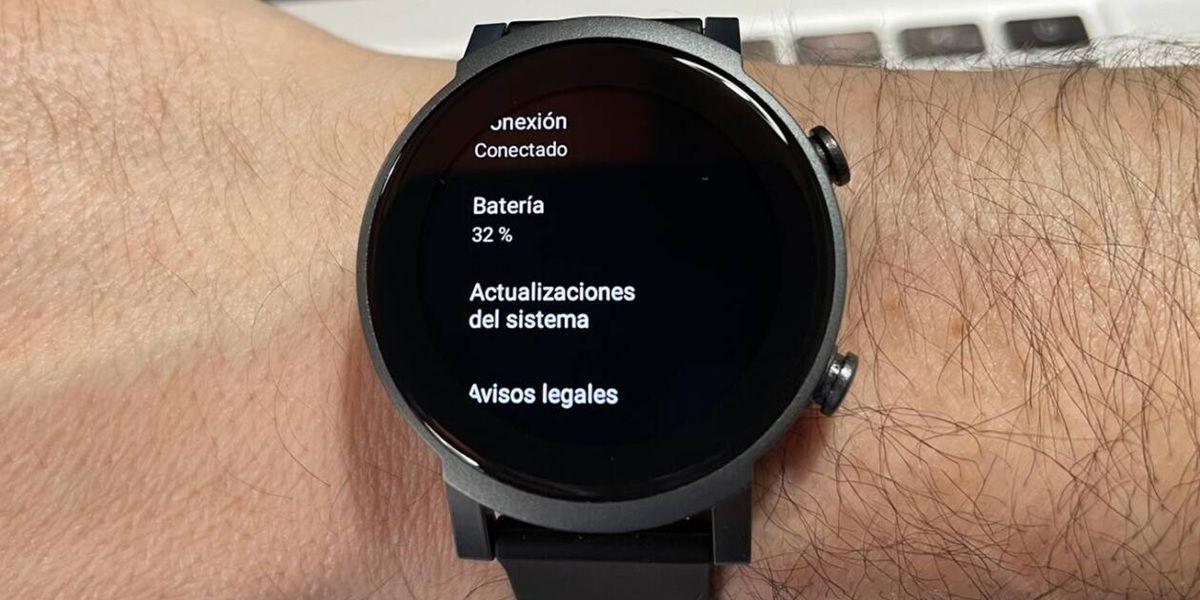 como actualizar smartwatch con wear os