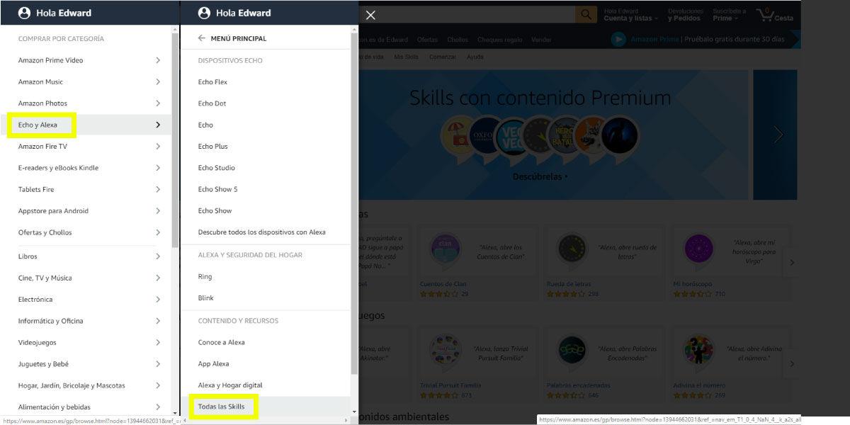 Cómo añadir skills en tu Amazon Echo con Alexa