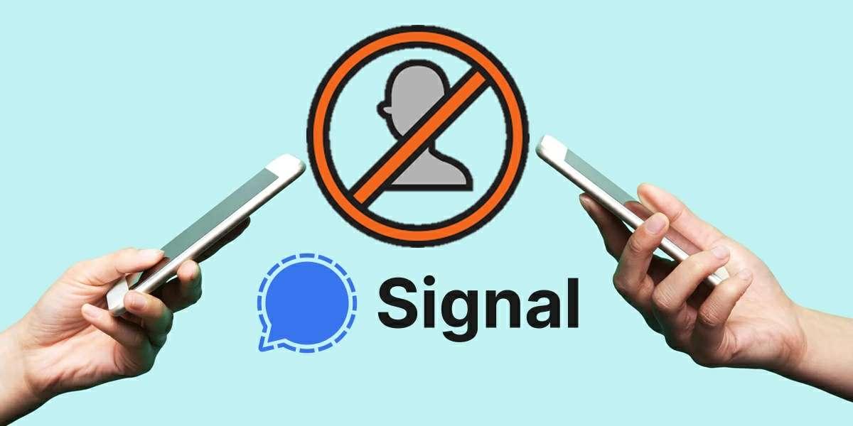 como bloquear un contacto en signal