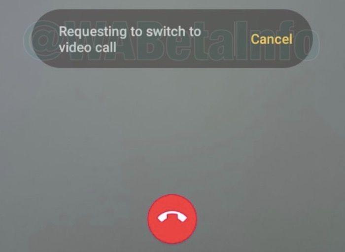 cambiar entre llamada y videollamada en WhatsApp