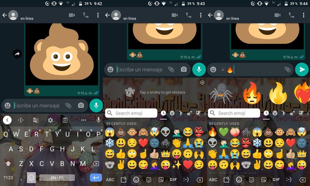 como crear combinaciones de emojis con gboard