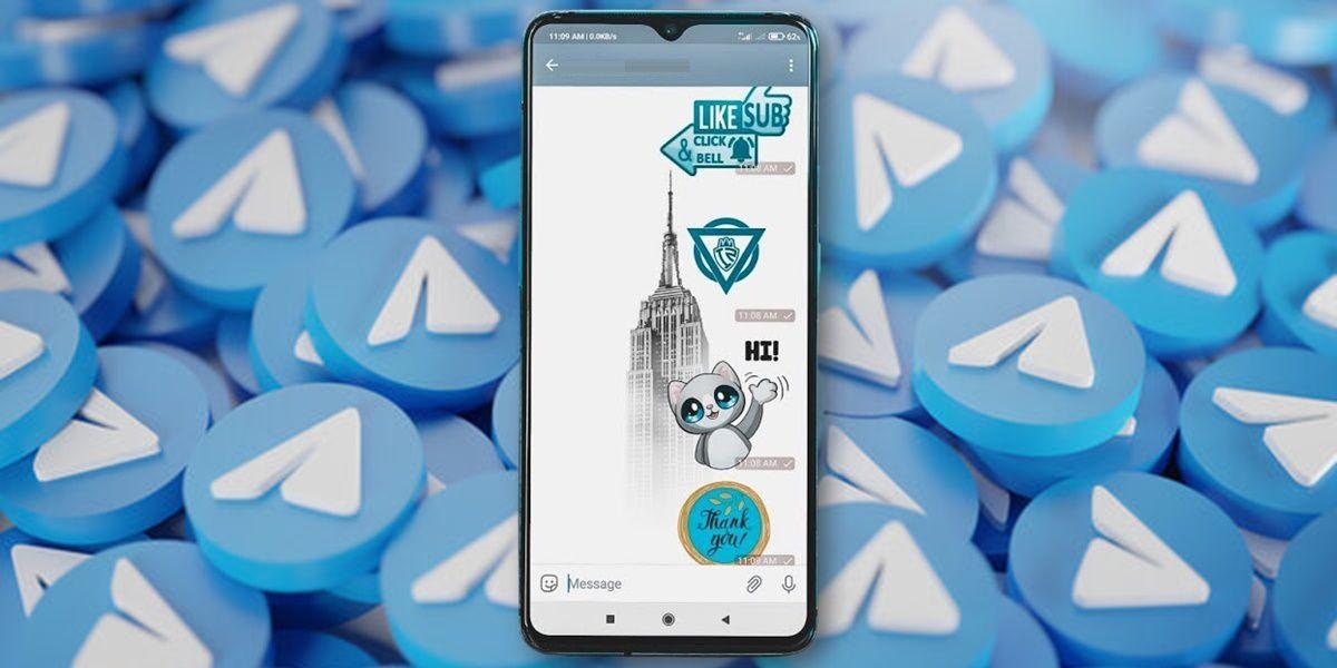 como crear stickers personalizados telegram